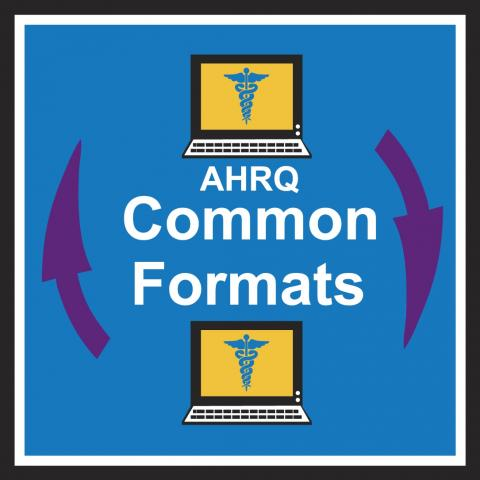 The Common Formats logo is two computers with arrows between them.